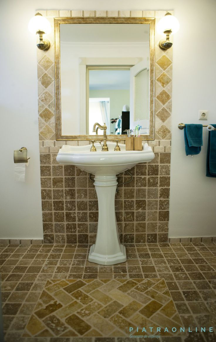 Travertine, Marble, Bathrooms