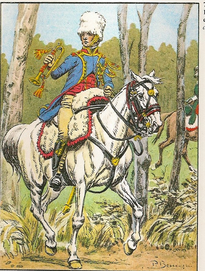 French; Consular Guard, Chasseurs a Cheval, Trumpeter, Tenue de Campagne, 1800