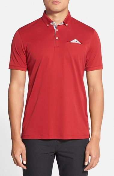 Ted Baker London 'Raynor' Extra Trim Fit Jersey Polo available at #Nordstrom