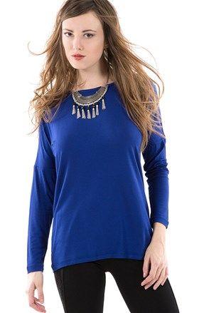 Γυναικεία μπλούζα μπλε ρουά - Mim | Stilago