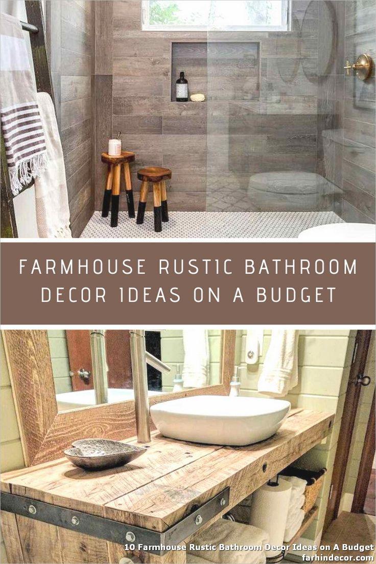 10 Farmhouse Rustic Bathroom Decor Ideas On A Budget Rustic Bathroom Decor Rustic Bathroom Bathroom Decor Barn star bathroom decor