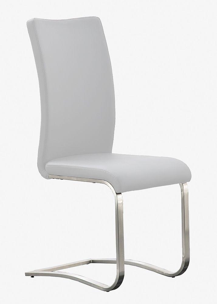 Elegant Freischwinger Leder 2er Set Arcos Schwingstühle Edelstahl Weiß 5781. Buy  Now At Http: