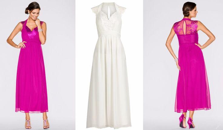 * NOVÉ ,,BODY FLIRT dlouhé šaty s něžnou krajkou vel.34,36,38,40,42,46 -3barvy :: AVENTE ...móda s nápadem