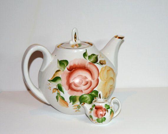 Set of teapots Porcelain teapots Vintage tea от GiftShopUkraine