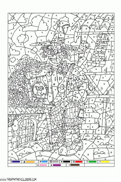 Libro Para Colorear Por Numeros | Malen nach zahlen, Kunst ...