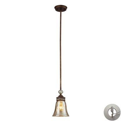 Elk Lighting Cheltham 1 Light Pendant in Mocha - includes Recessed Lighting Kit