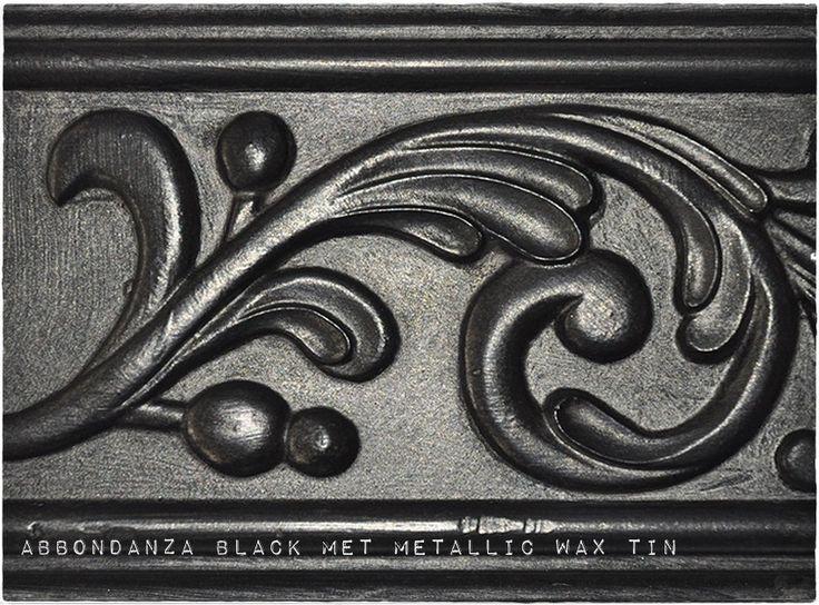 Abbondanza krijtverf Black met Metallic Wax Tin