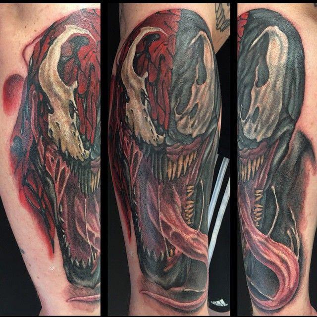 Venom Carnage Tattoo: Yesterday's Project. Great Fun! This Carnage/Venom Mash-up