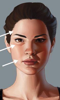 facial features  ILLUSTRATIONTIPS 3 top tips for mastering facial shadows