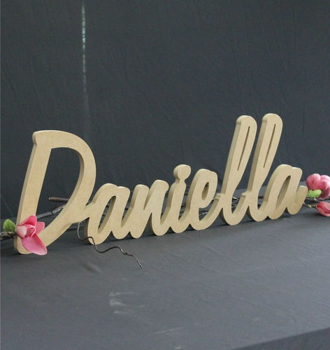 Sign for the girls bedroom door. Obviously with her name, not Daniella. We'll paint it... probably pink. Cause we can :p