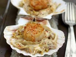 15 min réalisation - 20 min cuisson – 1 repas   Ingrédients  1 noix St Jacques  1 endive  quelques gouttes jus citron  4 cs fromage blanc...