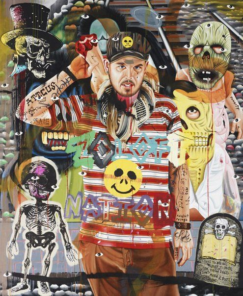 David Griggs: Zoloft nation (self-portrait) :: Archibald Prize 2009 :: Art Gallery NSW