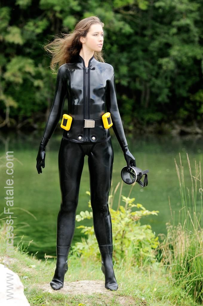Fetish suit wet woman this rather