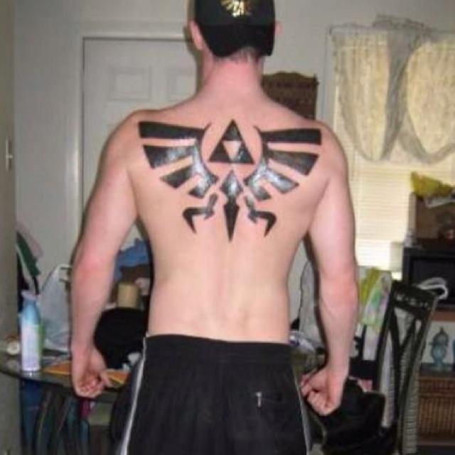 The legend of zelda triforce tattoo tattoos for Triforce hand tattoo