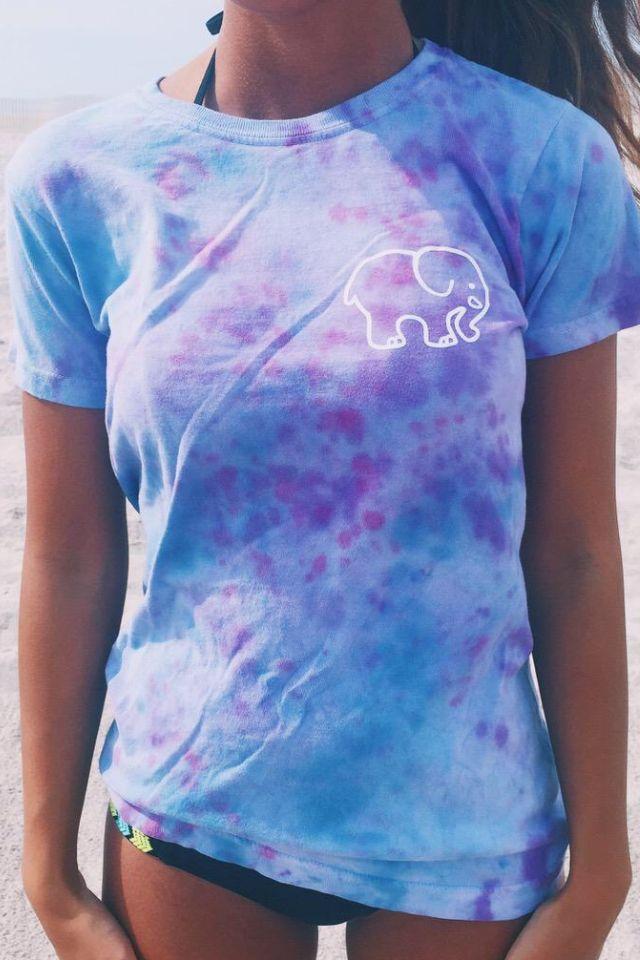 Deep purple and blue ivory Ella tee- tie dye