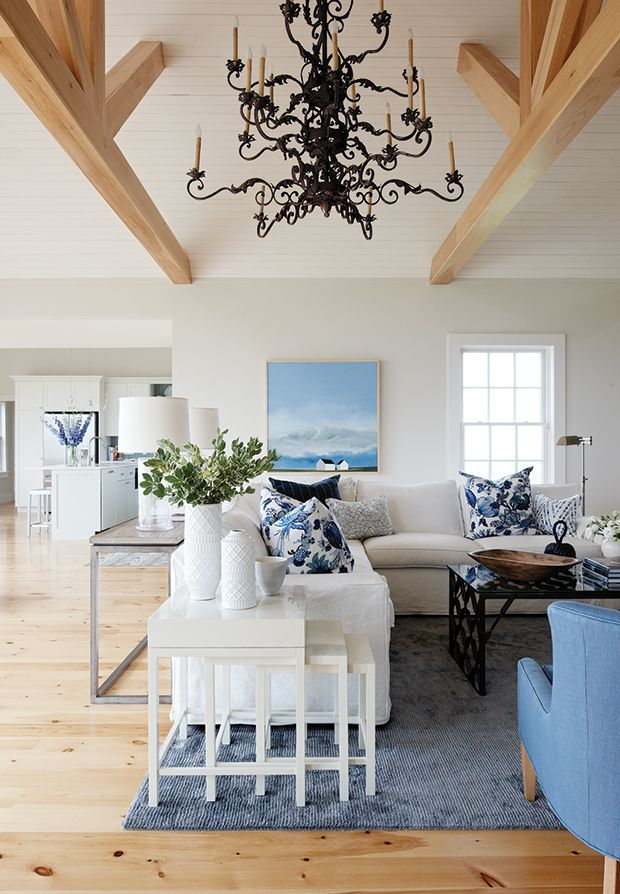 Seaside P.E.I. Home, designed by Sarah Richardson. Love the painting.
