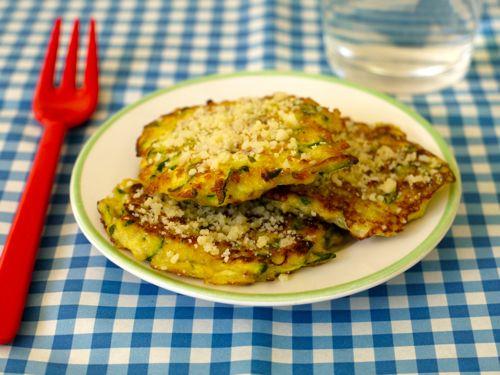 Zucchini Parmesan Cakes | Weelicious.com