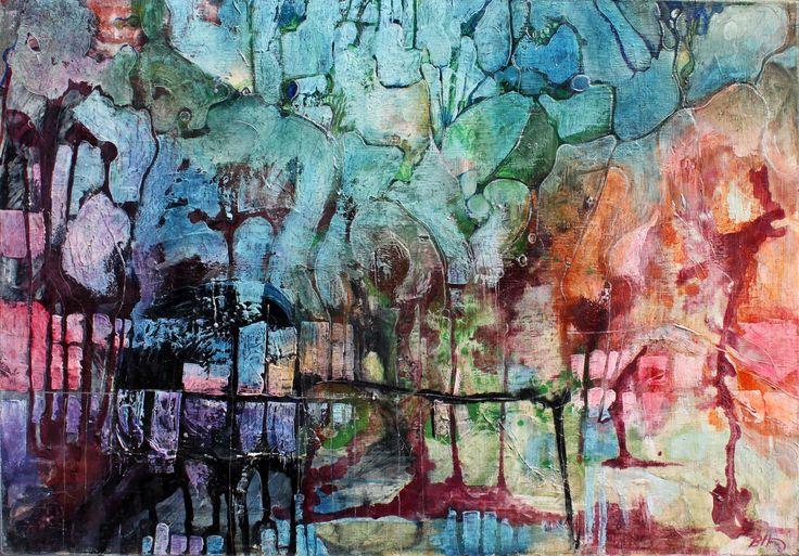 Mokradła I, 100x70cm,oil on canvas,2006, Barbara Hacura