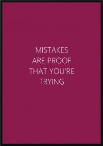 Plakat Mistakes