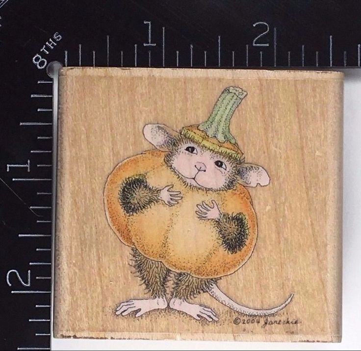 Rubber Stamp House Mouse Halloween LITTLE PUNKIN Pumpkin Costume RARE 269 #Stampabilities