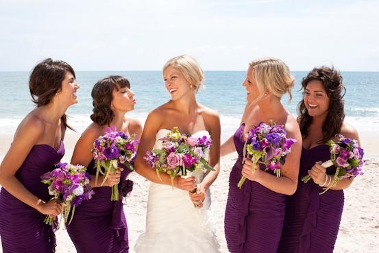 #purple #wedding colors #beachwedding by Johnna Brynn Photography