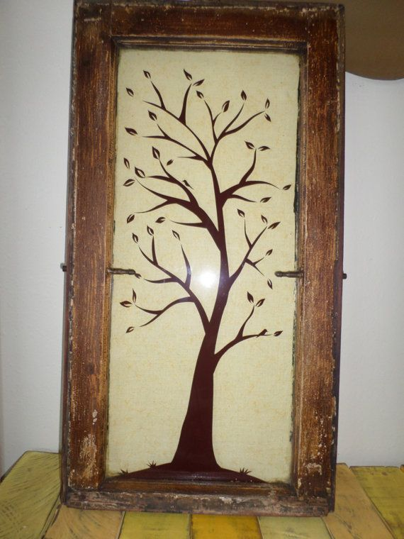 17 best images about window decor on pinterest trees for Using old windows as wall decor