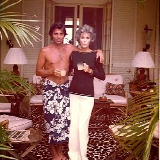 Babe Paley and Francois Catroux in Nassau. Francois told me with a giggle yesterday that he believes this photo was taken by Betty circa 1975 #islandliving #babepaley #francoiscatroux #itsbetterinthebahamas