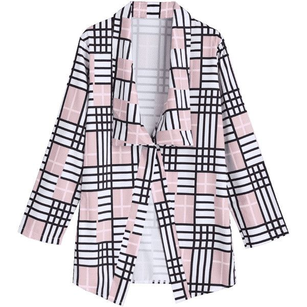 Elbow Patch Checked Blazer (97 PEN) ❤ liked on Polyvore featuring outerwear, jackets, blazers, checkered blazer, checked jacket, blazer jacket, elbow patch jacket and checked blazer