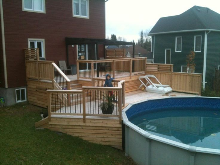 8 best design de patio personnalis images on pinterest for Plan de deck de piscine