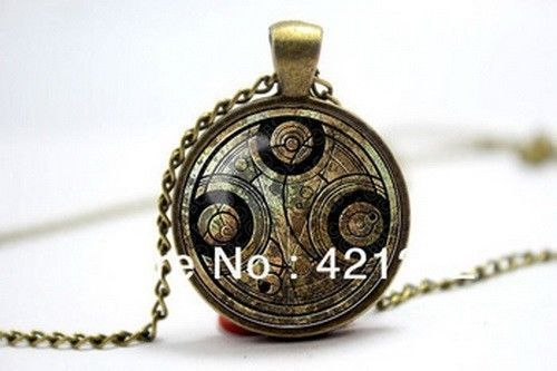 "Doctor Who ""Gallifreyan'"" Pendant with Metal Chain 