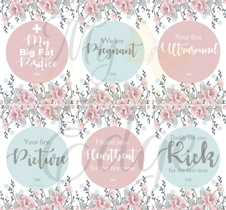 Pregnancy Milestone Cards - Floral - Instant Download by MyCreatve3dge on Etsy