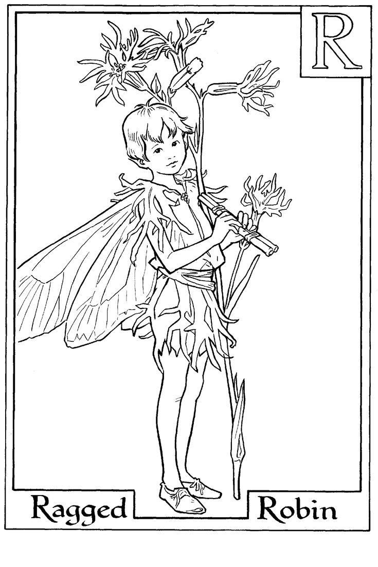 Fee Flower Fairies Coloring Pages Kleurplaten Mandala Coloriage Noel Coloriage Robin