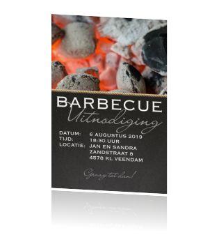 Uitnodigingskaart diner etentje barbecue feestje