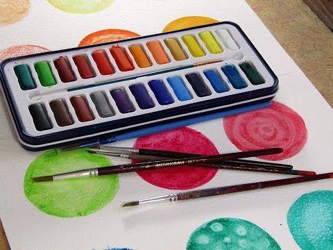 Cómo pintar con acuarela (Facturas) - YouTube