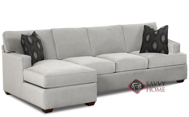 Lincoln Chaise Sectional Sleeper With Queen Bed Urban Look With Clean Style Customizable