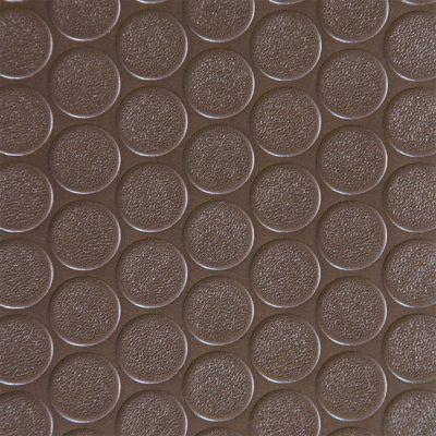 Rubber-Cal Coin Grip Anti-Slip Garage Flooring Rubber Mat Brown - 03-165-2MM-BR-07