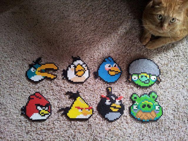 Angry Birds perler bead sprite by SushiMarioBros