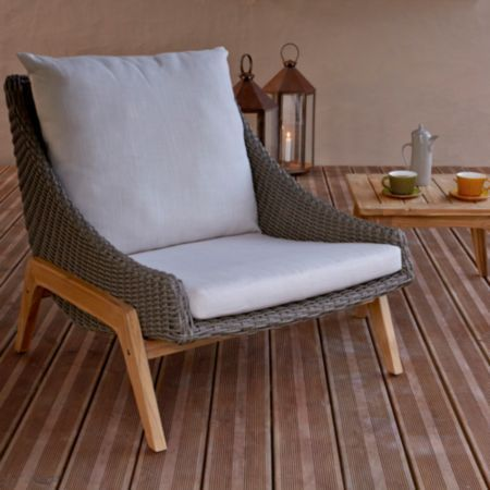 Retro Rattan Effect 2 Seater Coffee Set