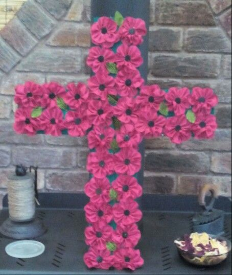 Anzac cross I made on behalf of my craft club for our local R S L,