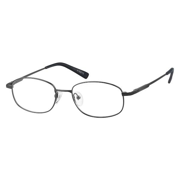 6e96cff67d Gray Metal Alloy Full-Rim Frame with Spring Hinges  416212