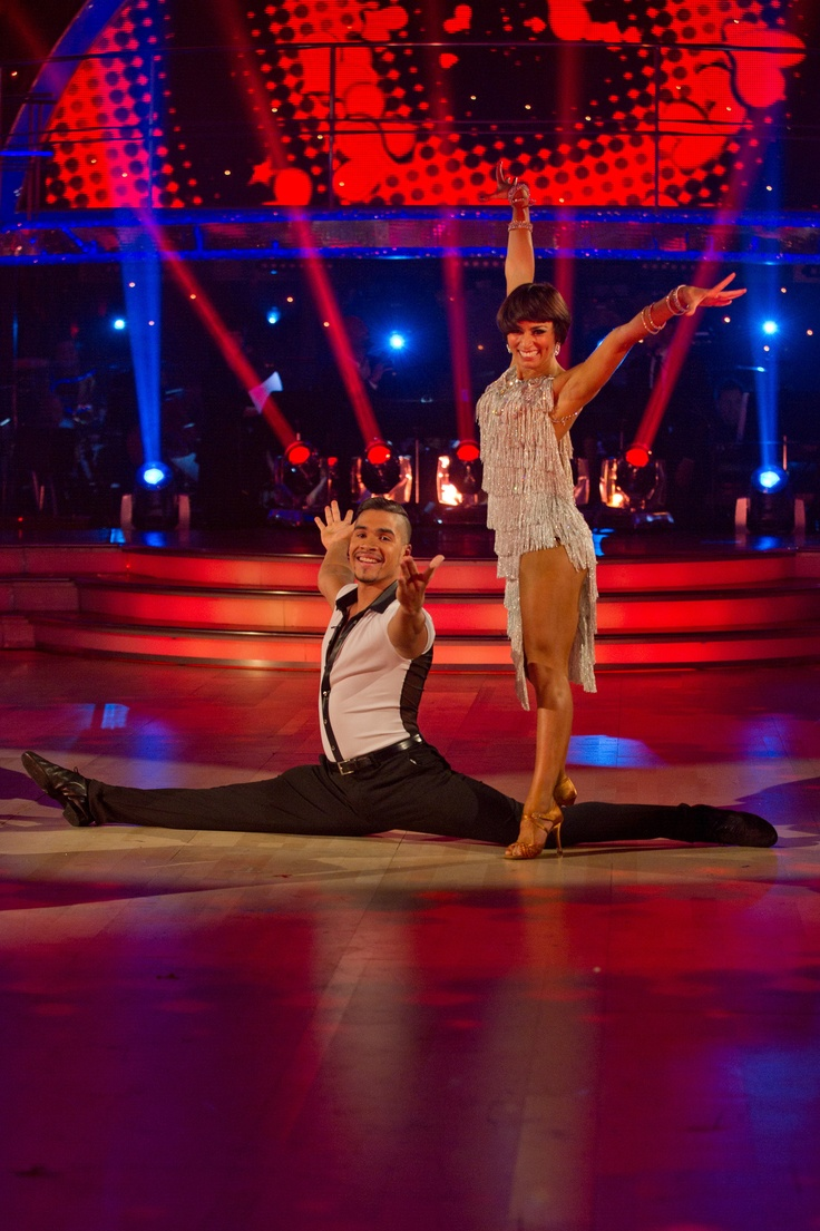 Strictly Come Dancing Live show british Olympic gymnast Louis Smith &  Flavia Cacace -  BBC - Photographer: Des Willie