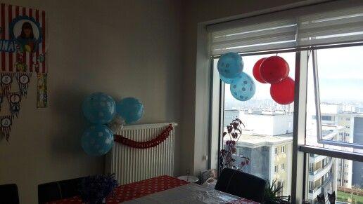 Kırmızı mavi balonlar