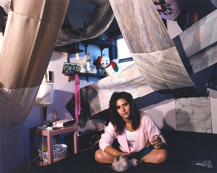 These images are from a 1995 photography project by Adrienne Salinger titledTeenagers in Their Bedrooms. Beingrepulsed by the FOX TV glam of Beverly Hills 90210, the artist and photographer sought to represent the actual realities of young people growing up in the America of the 90s.   via Huck Magazine, RLT