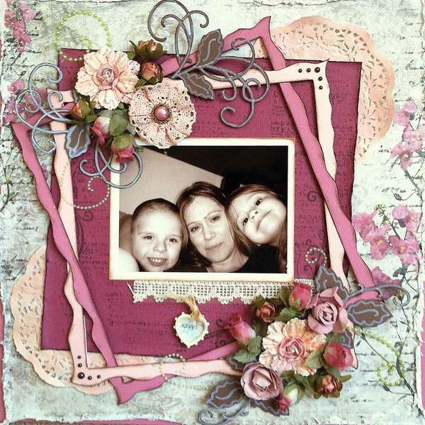 """Scrapbook.com-Layout: Sweet for the """"PINK Challenge"""""""