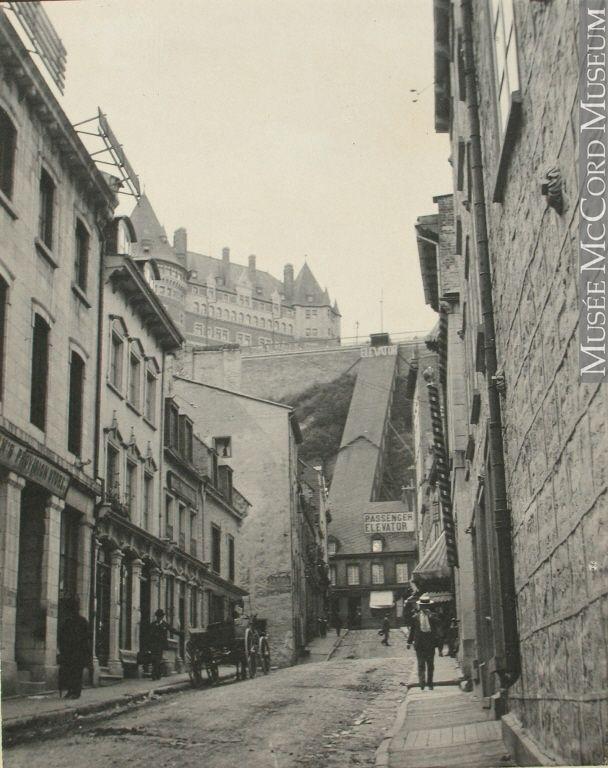 Rue Sous-le-Fort, Québec, QC, 1898