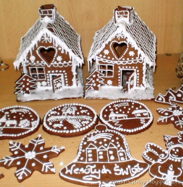 Moje pyszne, łatwe i sprawdzone przepisy :-) : Najlepsze świąteczne pierniczki.  Chatki z piernik...