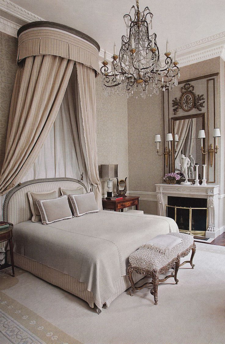 Master bedroom holly springs ga shabby chic style bedroom - The Bed In The Master Suite Of A Paris Home Renovated By Interior Designer Jean Louis Deniot Is Highlighted By An Corona And A Louis Xv Bench