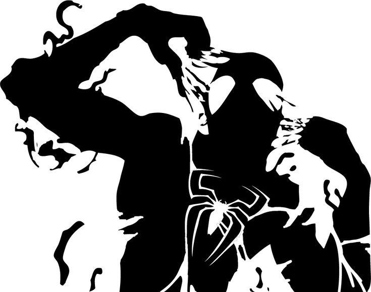spiderman and symbiote stencil template stencils pinterest. Black Bedroom Furniture Sets. Home Design Ideas