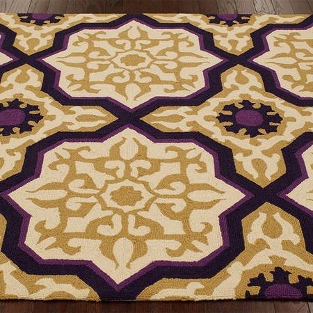 Dark Purple Black And Gold Pattern Rug My Creative Side