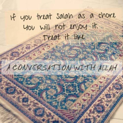 I learnt this today! The true meaning of Salaah... Again after a weak time, but Alhamdulillah my salaah had meaning again after a few days of struggles! Inshallah it'll help me get stronger!